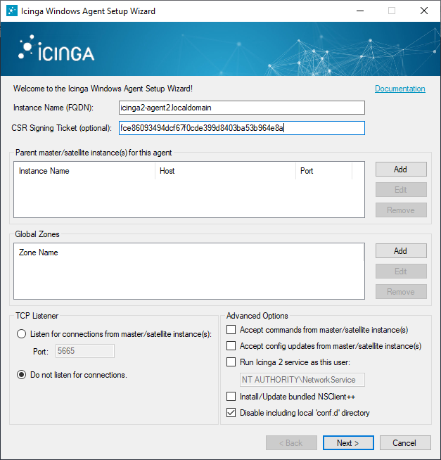 Distributed Monitoring - Icinga 2