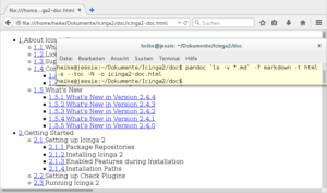 web browser and terminal showing the conversion of the files