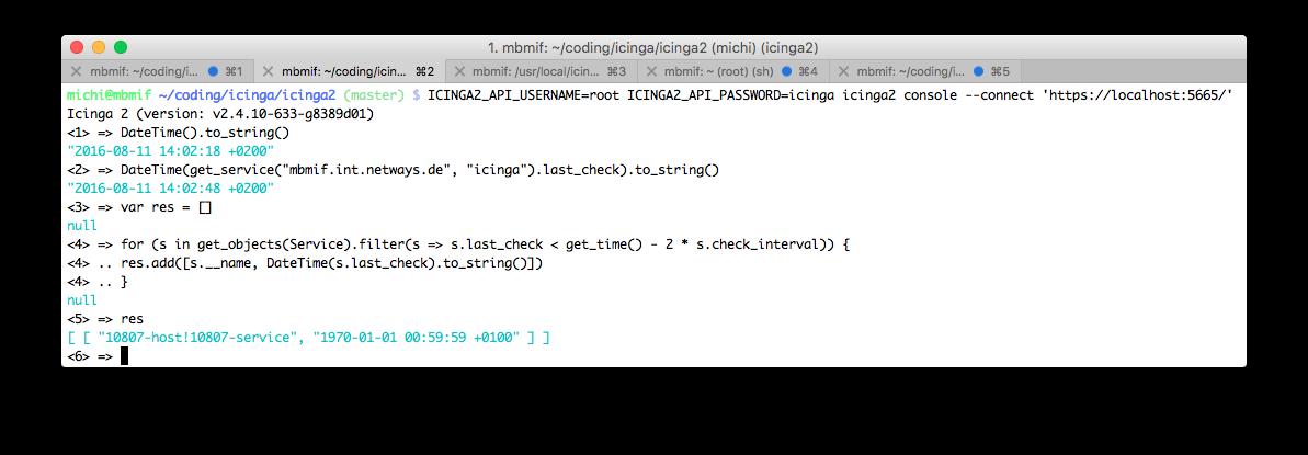 Analyse Icinga 2 problems using the console & API   Icinga