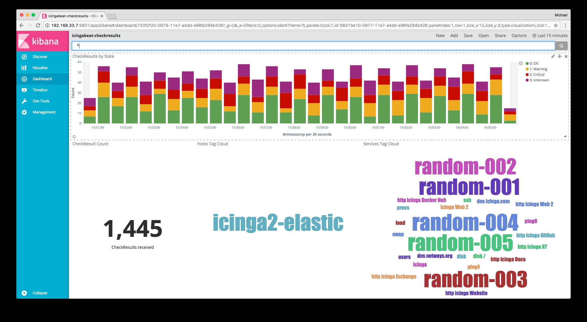 Vagrant box updates: Elastic Stack, InfluxDB & Icinga Web 2