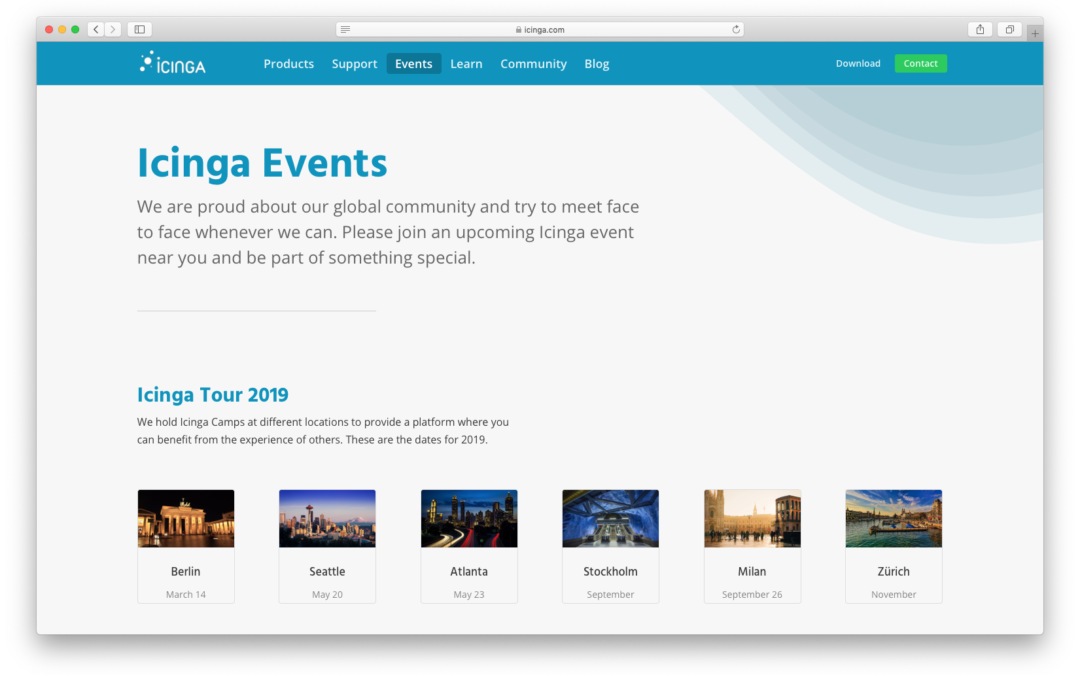 Monthly Snap January: New Website, Community Discourse & Icinga Tour 2019