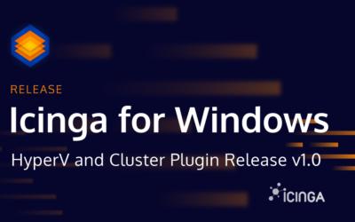 Icinga for Windows: Hyper-V and Cluster Plugin Release v1.0