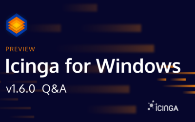 Icinga for Windows v1.6.0 – Preview and Q&A